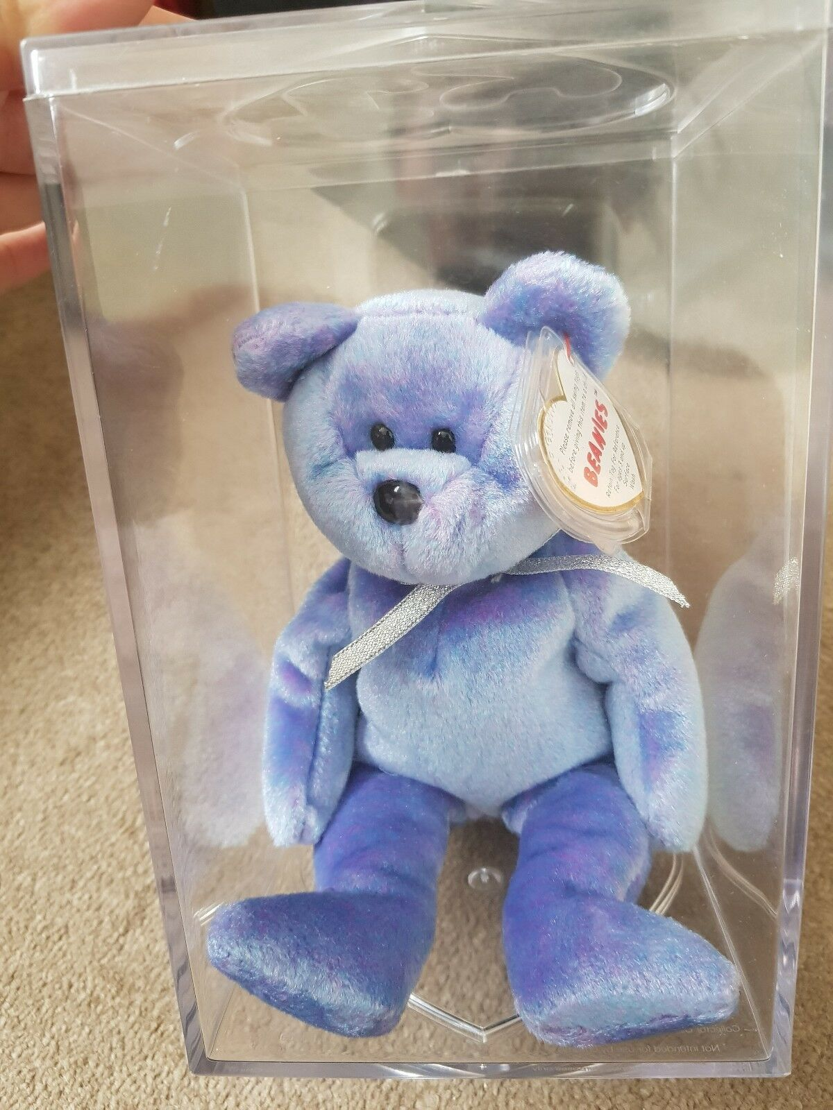 Ty Beanie Babies Retired Clubby II Immaculate Condition With Tags And Display...