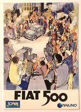 Biglietto Apribile 1985 Con Cartolina FIAT 500 30 Anni Della Nostra Storia R