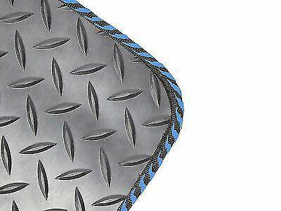 Black 3mm Rubber Floor Mats 4pc Colour Trim Mat Set for Vauxhall Corsa C 00-06