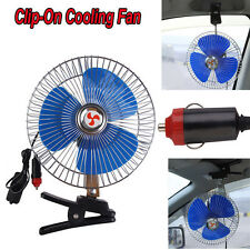 8 Inch 12V Portable Dashboard Vehicle Auto Car Fan Clip-On Oscillating Cooling
