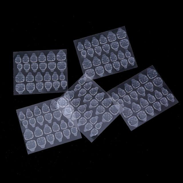 5 Sheets/24pcs Double Sided False Nail Art Adhesive Tape Glue Sticker DIY Fa NMC