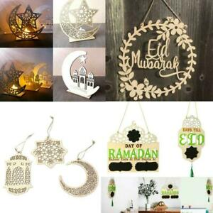 Wooden-Eid-Mubarak-Ramadan-Ornament-Muslim-Islamic-Hanging-Pendant-Decor-Gift