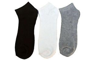 12 Pairs Mamia Casual WHITE; BLACK & GRAY  Low Cut Socks Sz. 9-11 NEW