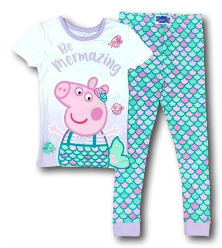"""Peppa Pig Pajamas for Toddler Girls /""""Be Mermazing/"""" Mermaid Peppa PJs 5T"""