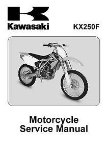 kawasaki service manual 2004 kx250f ebay rh ebay com kawasaki kx250f service manual pdf kawasaki kx250f service manual 2010
