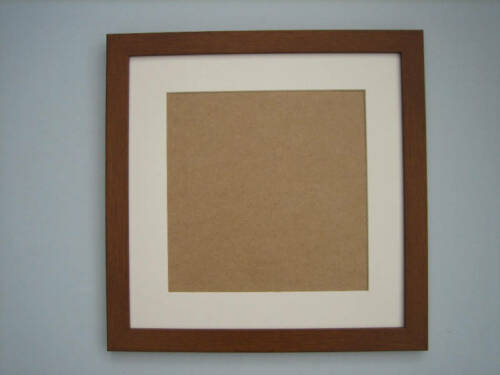 Teak Effect 12x12 Square Photo Picture Frame Mount 8x8 Hang
