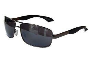 Sonnenbrille Brille Motorradbrille Bikerbrille Gangster Schwarz ANTHRAZIT M 42 OFJM8CS