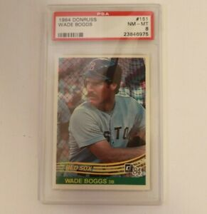 1984 Donruss Wade Boggs #151 PSA 8 Boston Red Sox HOF