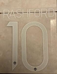 Flocage Nameset Rashford #10 Manchester United 2020-2021 Home Away. Cup