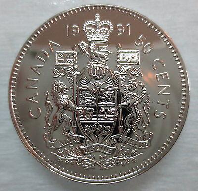 UNC 50 Cents 1991 Canada Half Dollar Coin