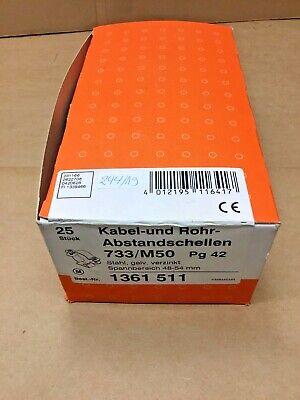 25 Abstandschellen 733/m50 Pg42 733 M50 244/19 Geschickte Herstellung