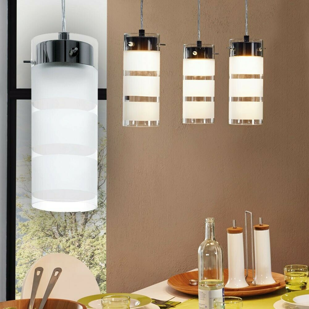 LED 21W Design Decken Hänge Pendel Lampe Lounge Glas Wohn Schlaf Big Light