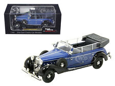 1938 MERCEDES 770K PARADE CAR BLUE 1/43 DIECAST CAR BY SIGNATURE MODELS 43700