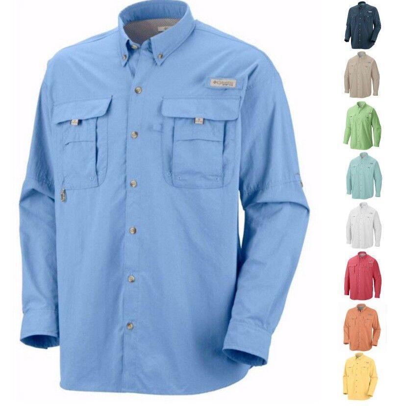 NEW  COLUMBIA Men's PFG Bahama™ II Long Sleeve Fishing Shirt UPF 30 Vented  brand on sale clearance
