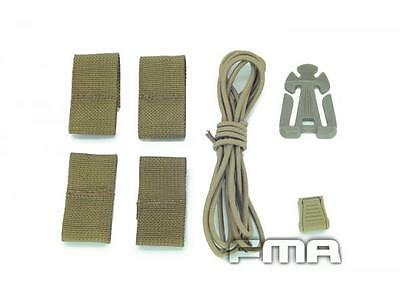 Bungee Shock Cord Mounting System for OPS Fast Base Carbon EXFIL Helmet  TAN