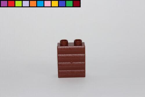 Lego Duplo Mauer Wand gewellt braun Sondersteine 1x2x2 2er Noppen hoch
