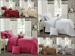 New Quality INSPIRATION Quilted Beautiful Bedspread/Throw with 2 Pillow Shams