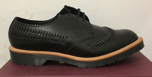 Image is loading DR-MARTENS-WEAVER-BLACK-BEAUMONT-LEATHER-SHOES-SIZE-