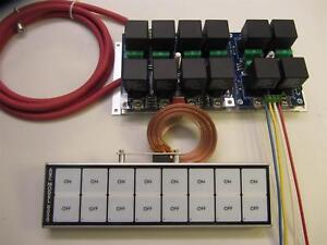 arc flat touch switch panel 8000d ebay rh ebay com Rocker Switch Wiring Diagram Race Car Kill Switch Wiring