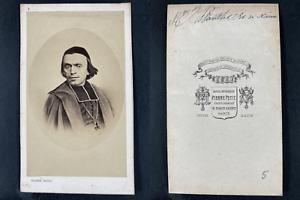 Pierre Petit, Paris, Claude-Henri Plantier, évêque Vintage cdv albumen print.C