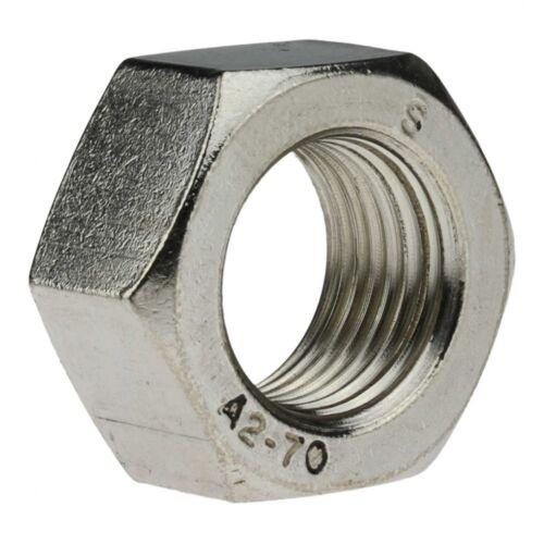 10x DIN 934 Sechskantmuttern A2 blank Feingewinde M 10 x 1.25