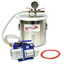 3 Gallon Vacuum Chamber And 25cfm Single Stage Pump To Degassing Silicone Kit