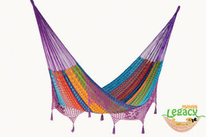 Deluxe-King-Size-Outdoor-Cotton-Mexican-Hammock-in-Colori-colour-by-Mayan-Legacy