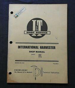1981 INTERNATIONAL HARVESTER 886 986 1086 TRACTOR I & T SERVICE REPAIR MANUAL