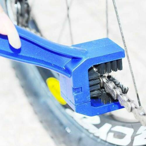 Motorcycle Bike Chain Cleaning Brush Portable Gear Cleaner Tool Wash Scrubber LY