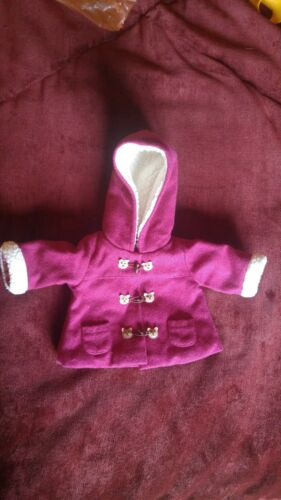 American Girl BITTY BABY Toggle Coat Berry Harvest Bear Bundle Up