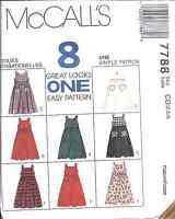 7788 UNCUT Vintage McCalls Pattern Little Girls Jumper SEWING OOP Dress Summer