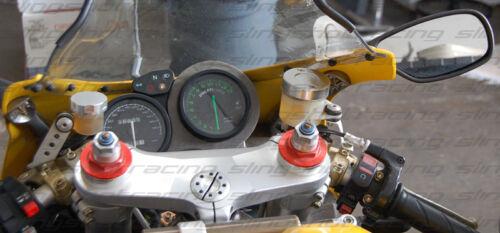 Ducati Supersport 900 M1000 M900 Silver Front Rear Brake Clutch Reservoir Caps