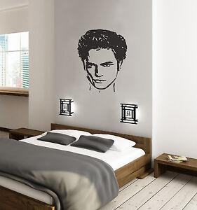 EDWARD Face Twilight Vinyl Wall  Car Decal Sticker, Vampire Art, BIG or SMALL
