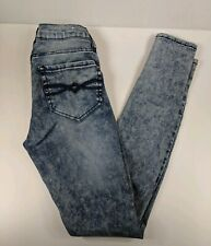 Womens Juniors/' Mudd Hi-Rise High-Waisted Black Acid Wash Jeggings Pants NEW $40