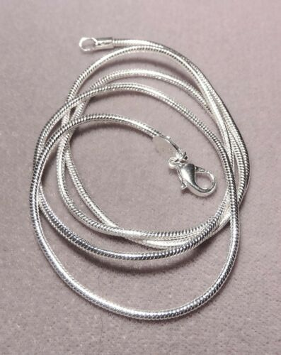 56 cm 4335 - 925 Sterling Silver 1.2 mm Snake chain/' Necklace Chain 22 inch