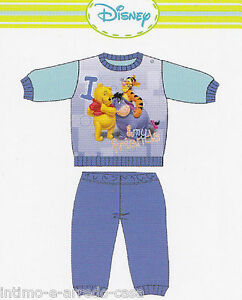 Disney Baby Hot Cotton Pajamas Child Winnie Wd10948 Can Be Repeatedly Remolded. Boy Sleeves Long