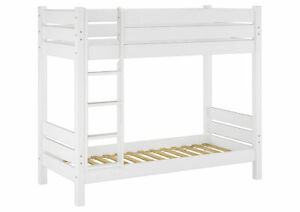 letto a castello ALTEZZA 90X190 legno massello bianco 60.16-09-190 W ...