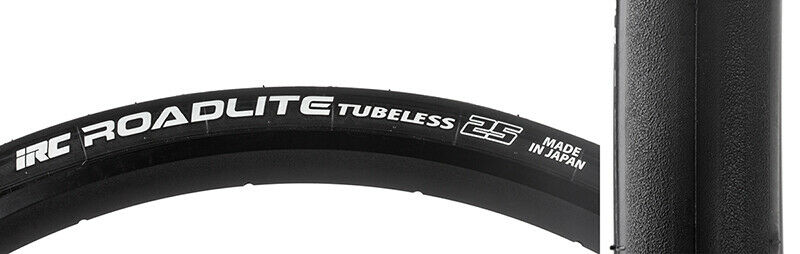 Irc Roadlite Tubless Tire Irc Roadlite Tubls 700x25 Bk bk Fold