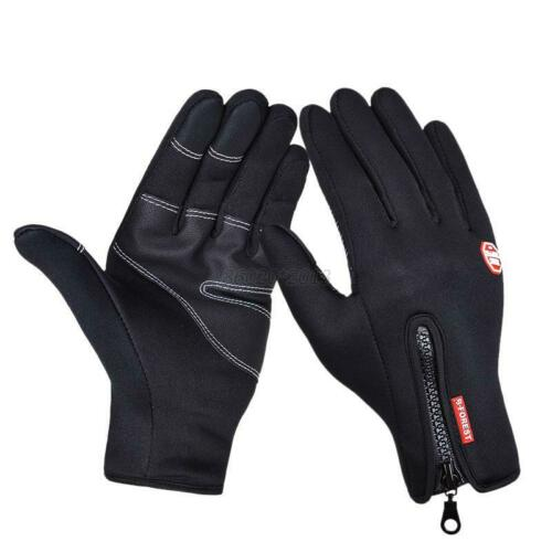 US Men Women Screen Touchable Bike Cycling Gloves Winter Warm Full Finger Gloves