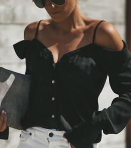 Women Long Flutter Sleeve Off The Shoulder T-shirt Summer Sexy Beach Blouse Tops