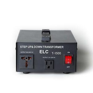 Elc T 1500 1500watt Voltage Converter Transformer Step Up