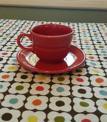 Fiestaware Scarlett Red Tea Cup And Saucer Ebay