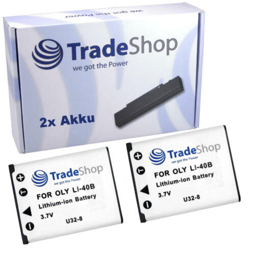 2x batería para Fujifilm finepix jx-550 jz-200 t-350 t-400 xp-50
