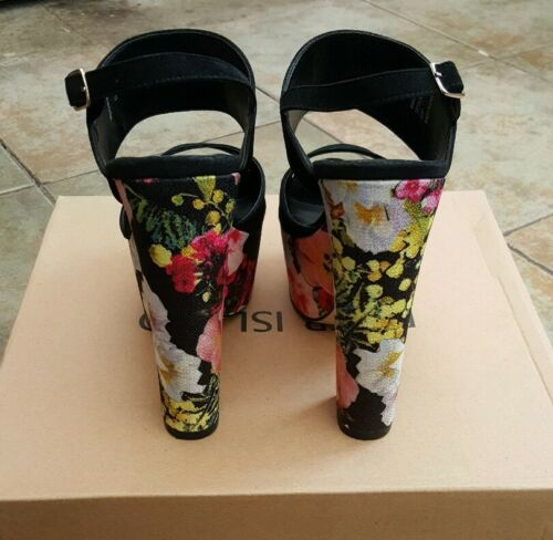Heel 4 Black Size Print Island Floral And River Block SvYHqv