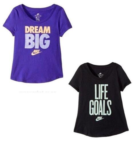Nike Girls Short Sleeve T-Shirt Brand NEW Pick Size /& Color MRSP:$20.00