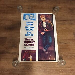 Rebel-Without-A-Cause-Poster-James-Dean-Natalie-Wood-Sal-Mineo-1986-M-073-Litho