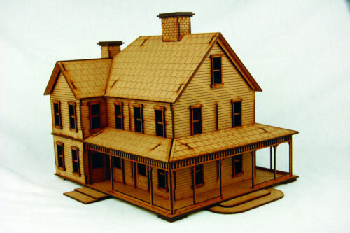 D046 Old West Cowboy Building CATTLE BARON'S RANCH HOUSE  25mm 28mm Terrain