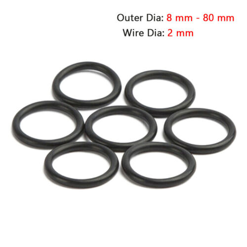 2mm Section 80mm Bore NITRILE 70 Rubber O-Rings