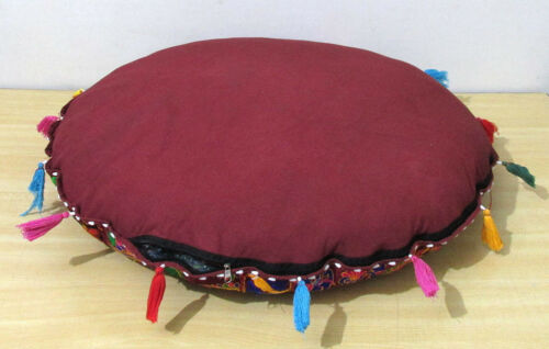 "32/"" Round Floor Pillow Cushion Cover Decorative Patchwork Indian Handmade Throw"