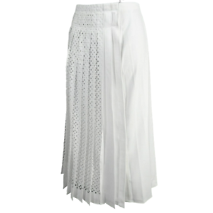 TORY-BURCH-White-Pleated-A-Line-Midi-Skirt-Women-039-s-Size-4